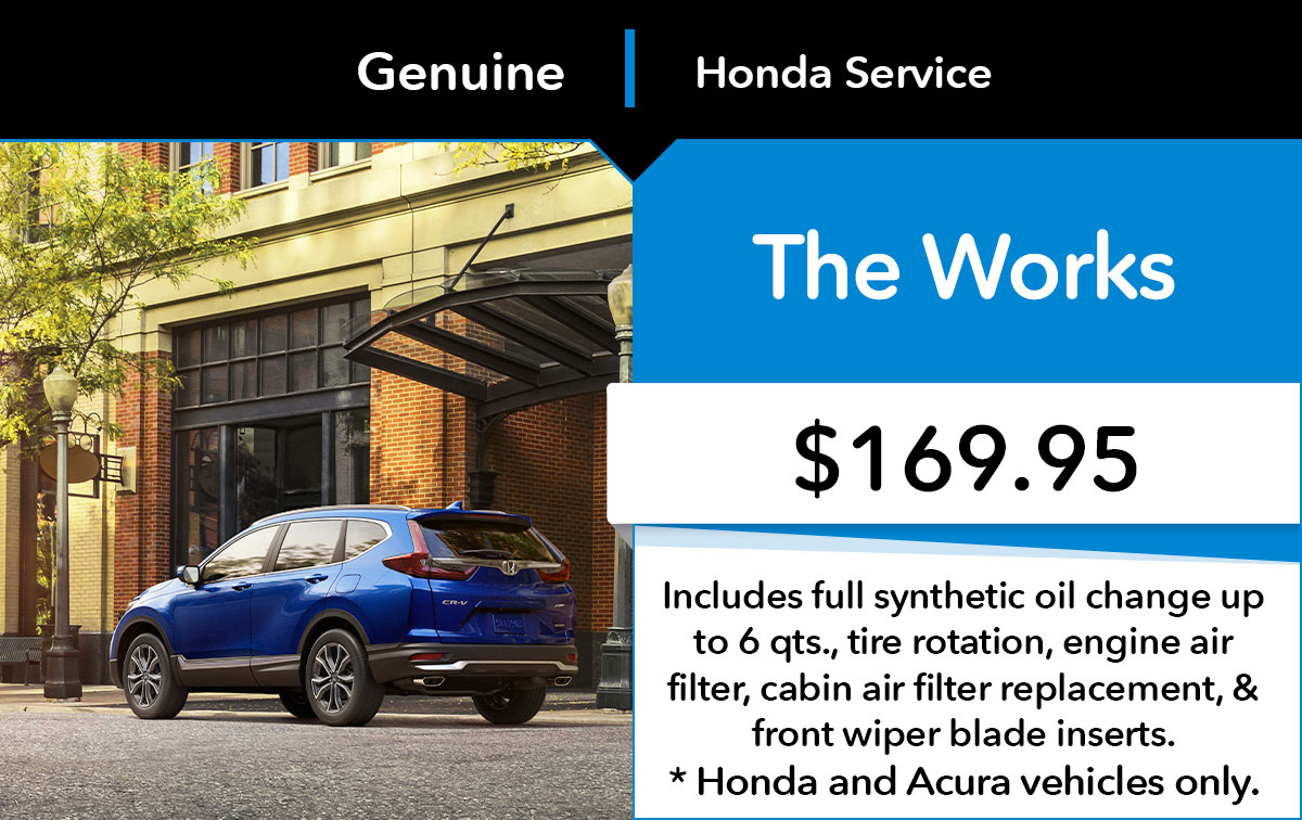 Honda The Works Service Special Coupon