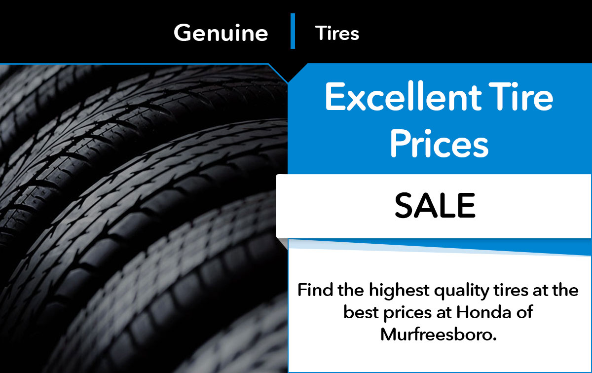 Honda Tire Sale Special Coupon