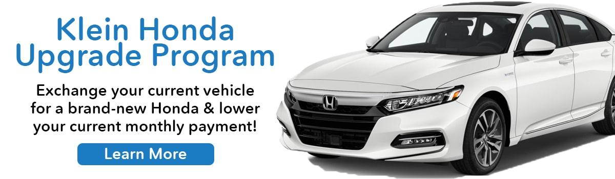 Klein Honda Upgrade Program