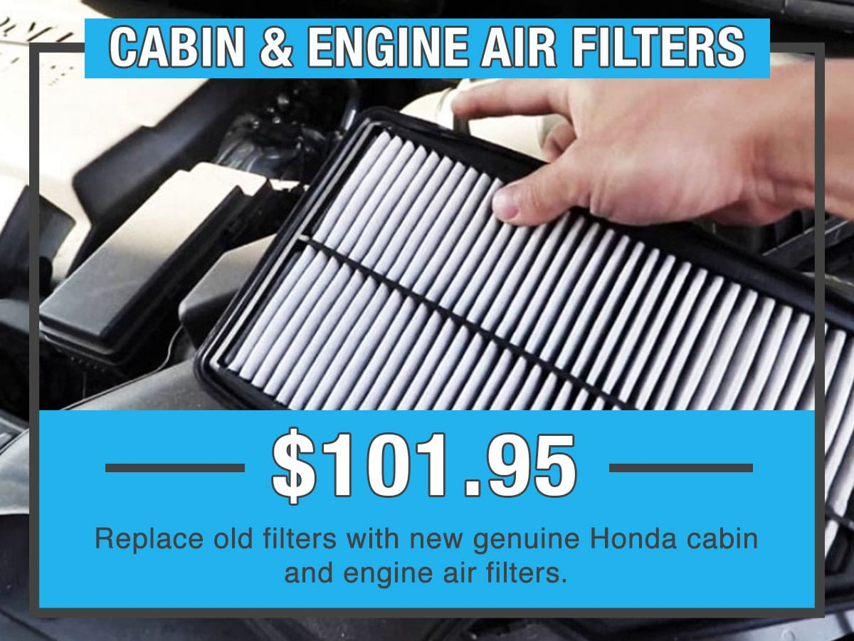 Honda Cabin & Engine Air Filter Service Special Coupon