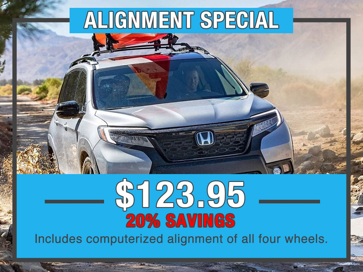 Honda Alignment Special Service Special Coupon
