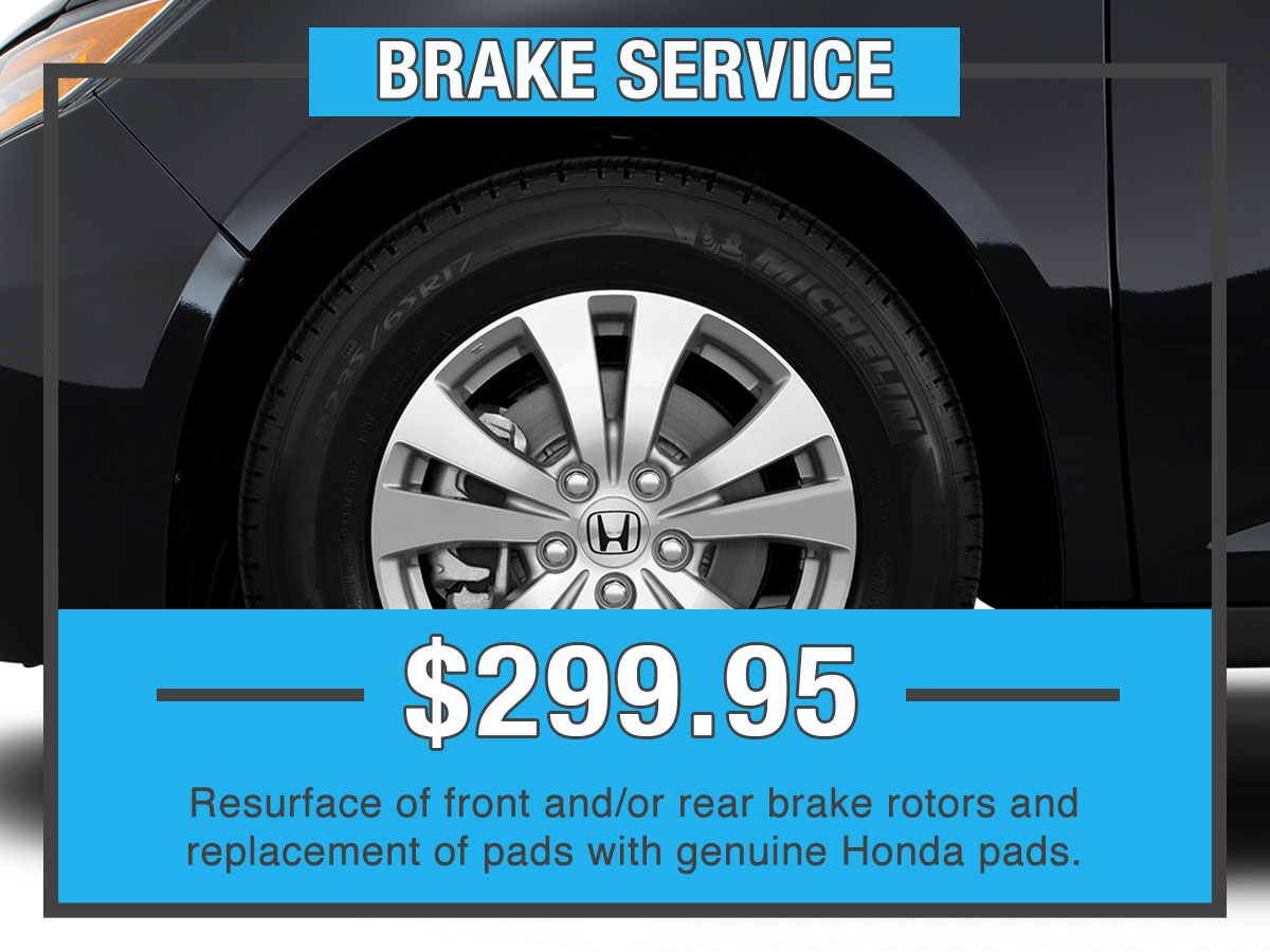 Honda Brake Service Special Coupon