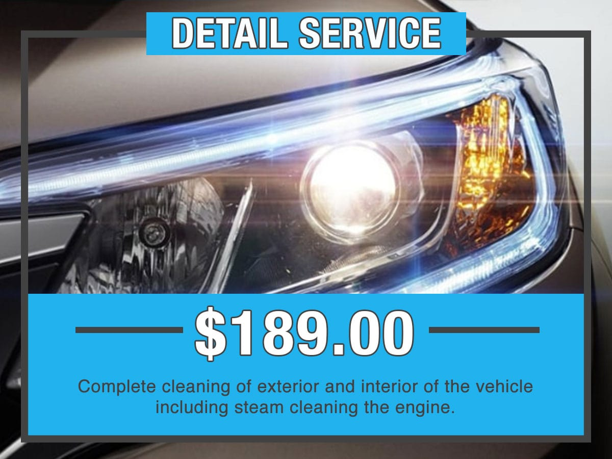 Honda Detail Service Special Coupon