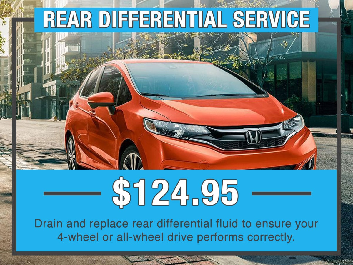 Honda Rear Differential Service Special Coupon
