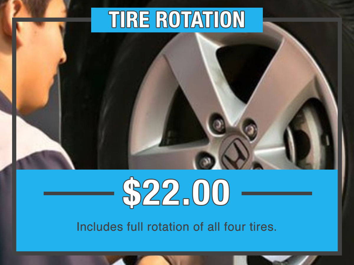 Honda Tire Rotation Service Special Coupon