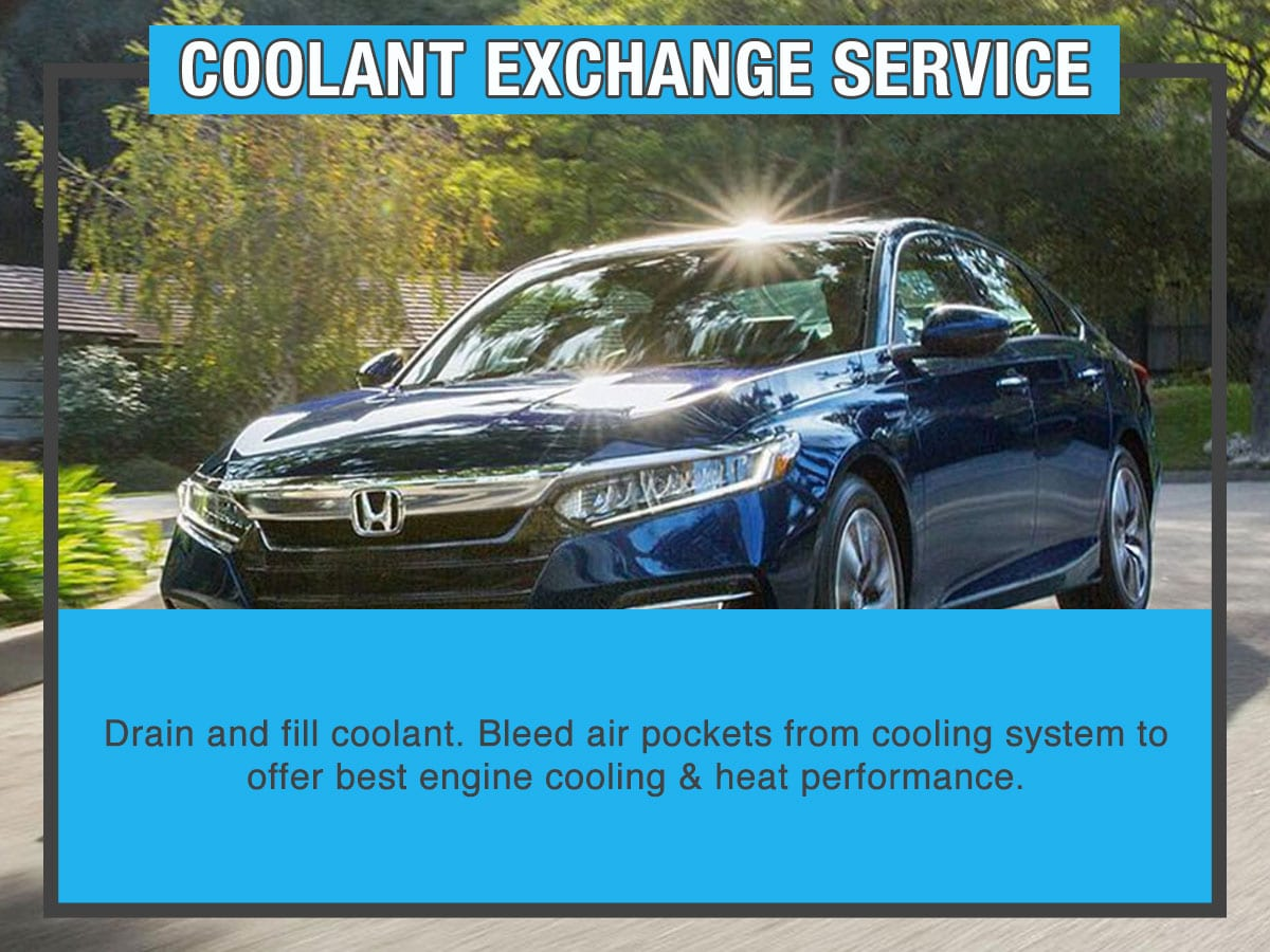Honda Coolant Exchange Service Special Coupon