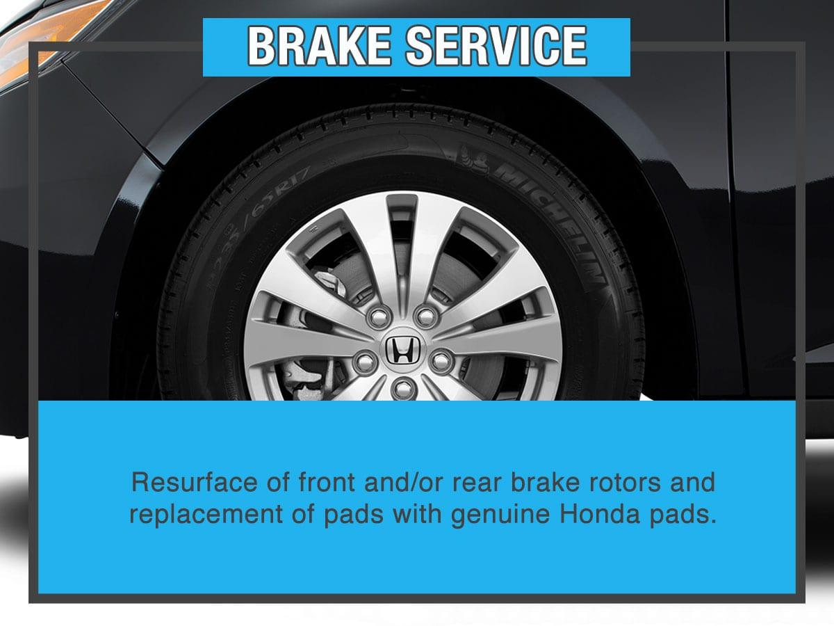 Honda Brake Special Service Special Coupon