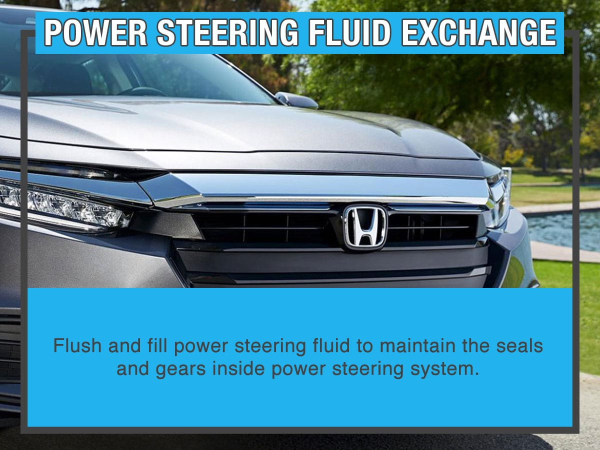 Honda Power Steering Fluid Exchange Service Special Coupon