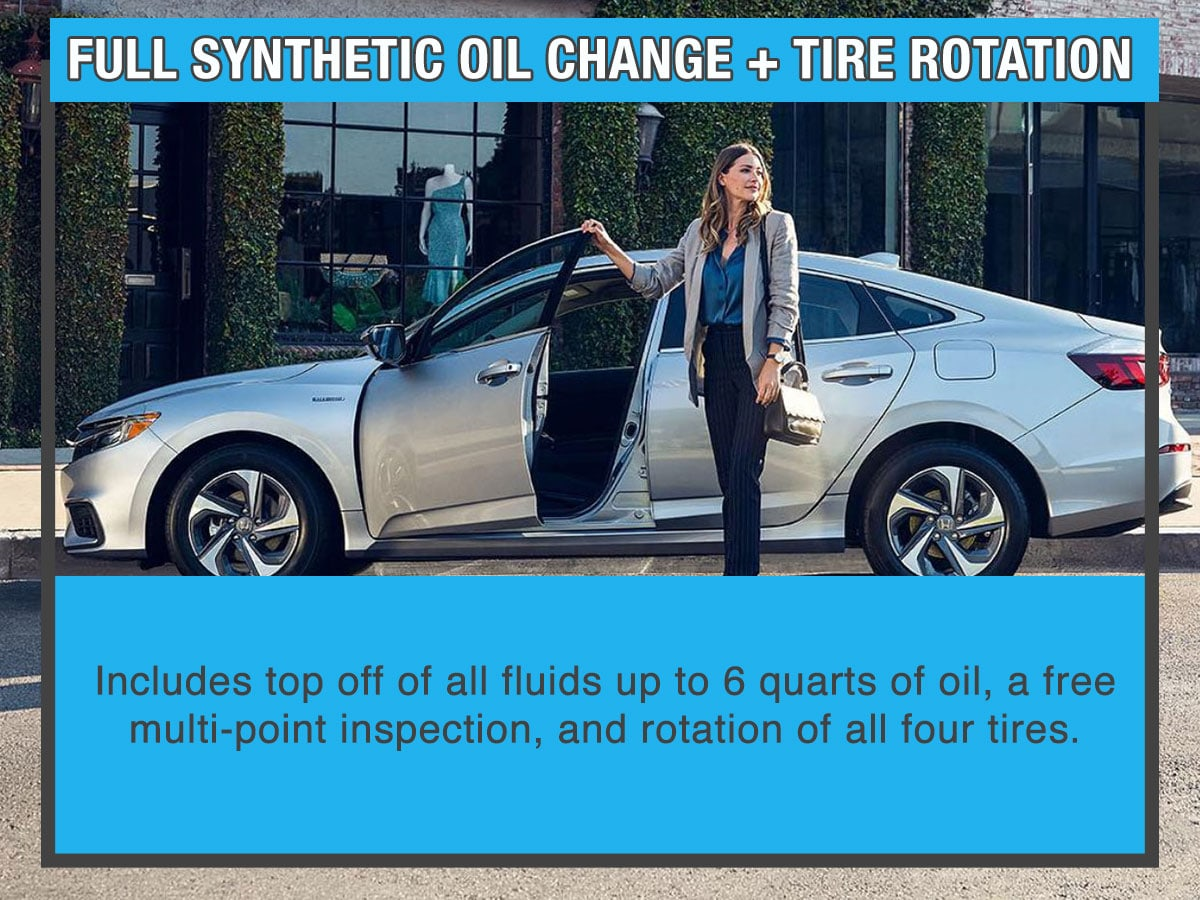 Honda Synthetic Oil Change Tire Rotation Service Special Coupon
