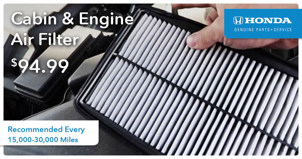 Cabin & Engine Air Filter Service Special Coupon