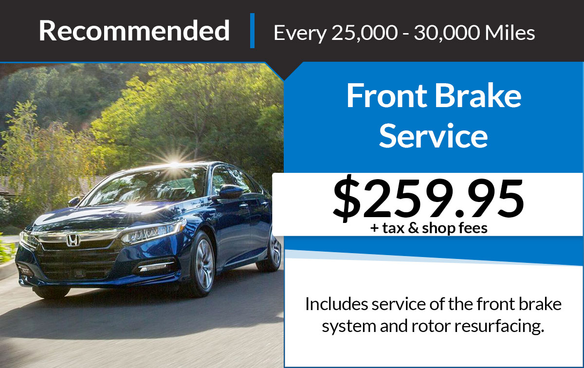 Front Brake Service Special Coupon