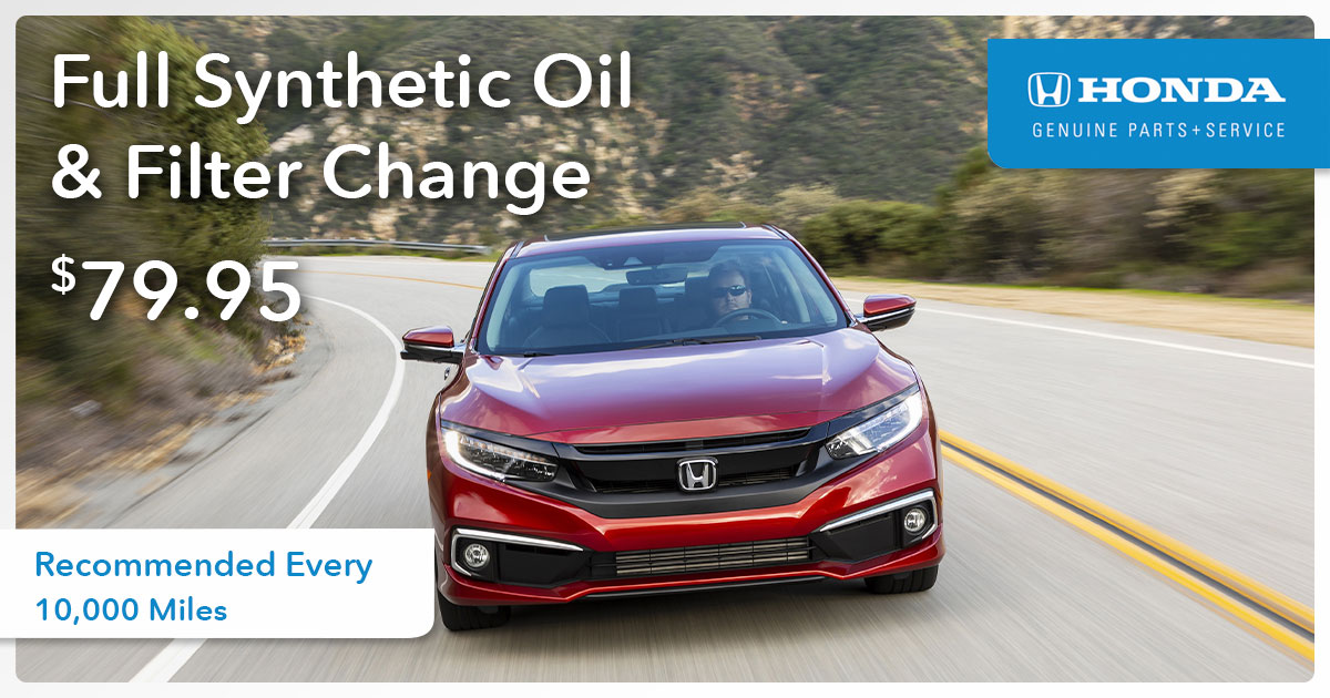 All Makes & Models Full Synthetic Oil Change Service Special Coupon