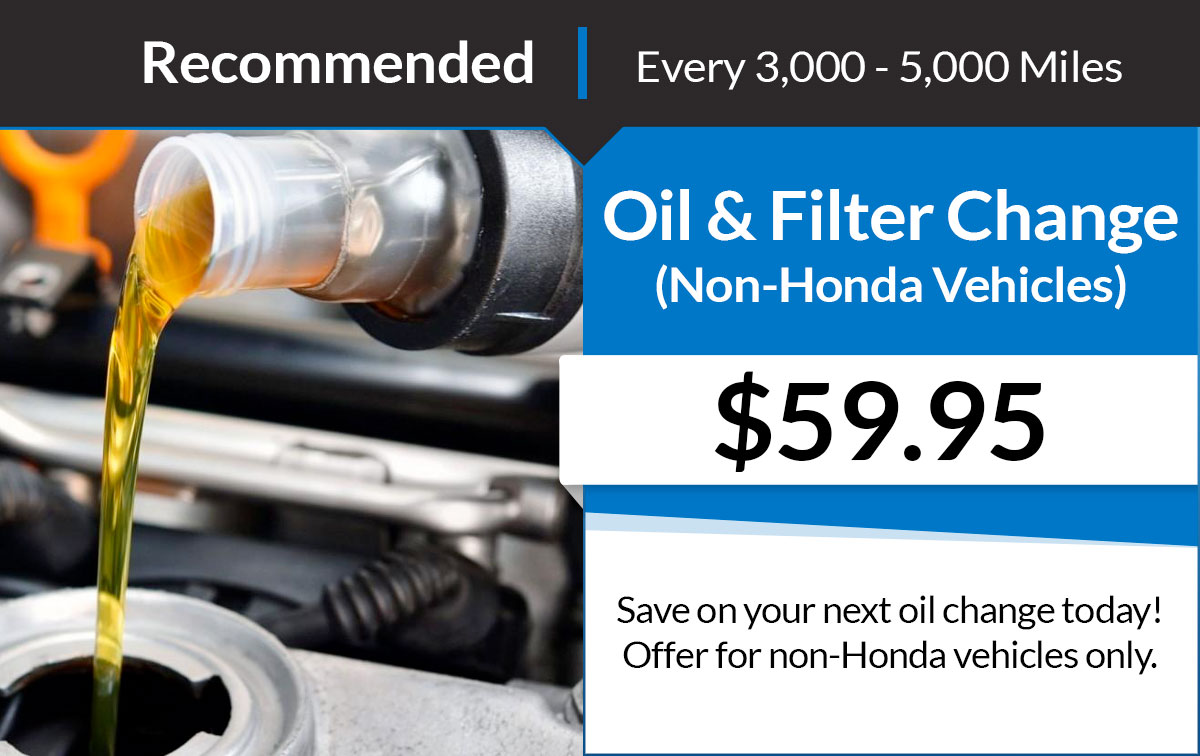 All Makes & Models Oil & Filter Change Service Special Coupon