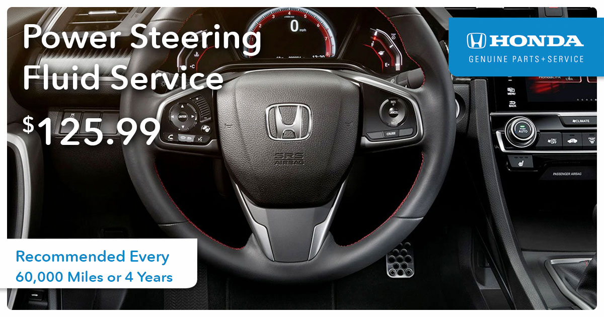 Power Steering Fluid Service Special Coupon