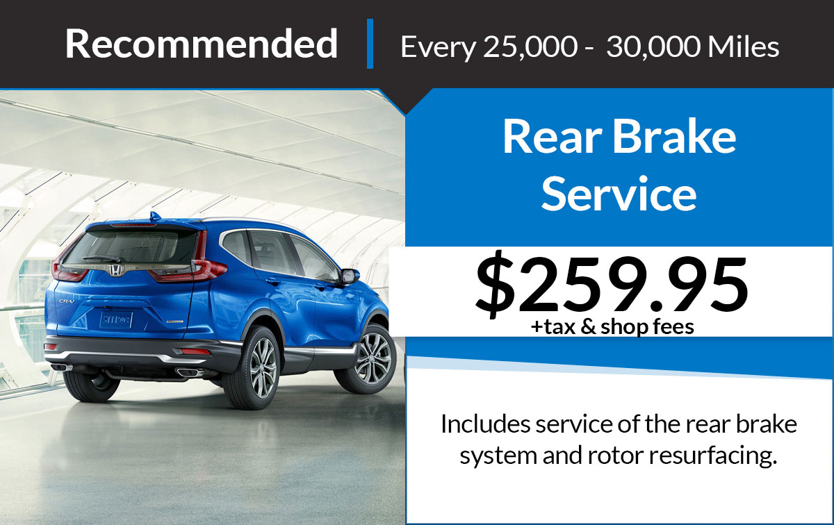 Rear Brake Service Special Coupon