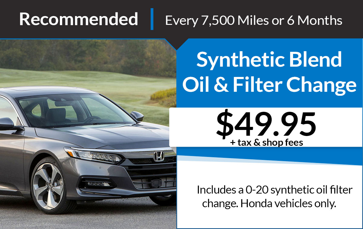 Synthetic Oil & Filter Service Special Coupon