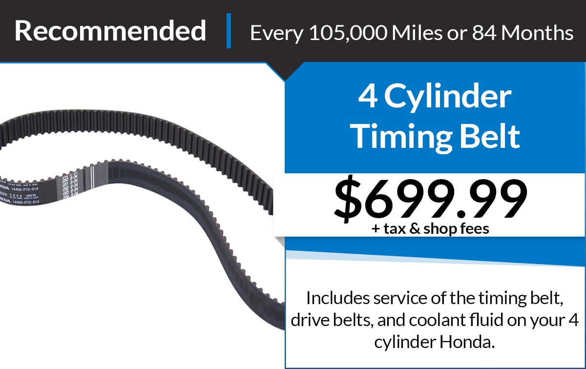 Timing Belt - 4 Cylinder Service Special Coupon