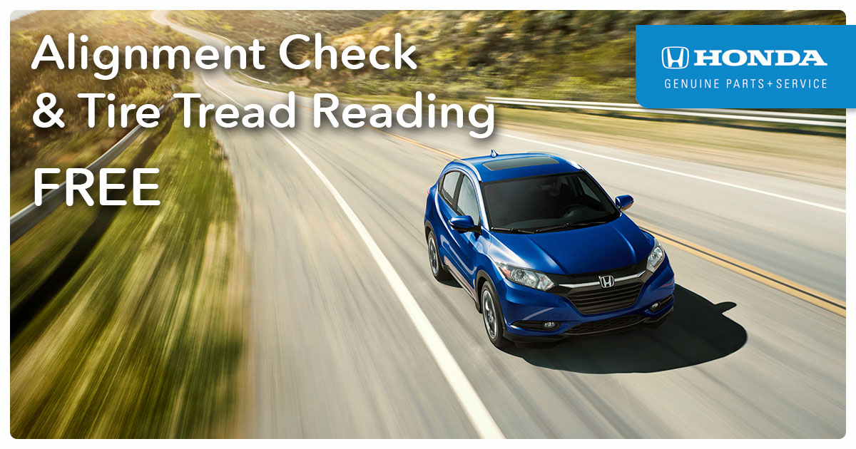 Honda Alignment Check & Tire Tread Reading Service Special Coupon
