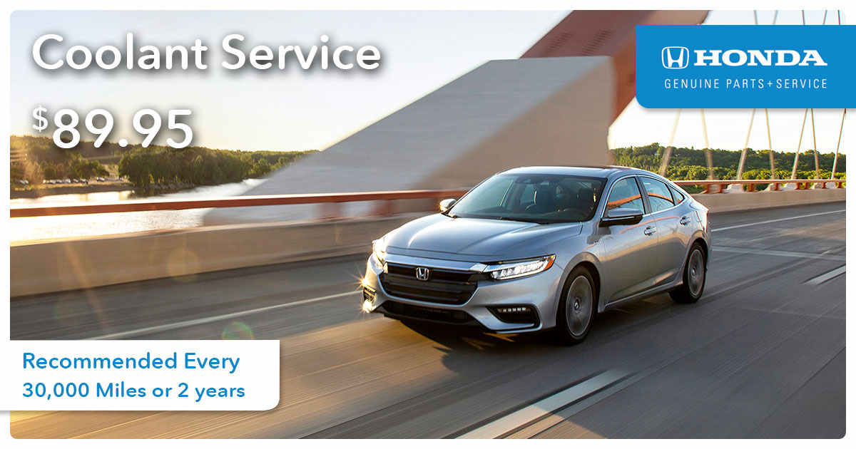 Honda Coolant Service Special Coupon