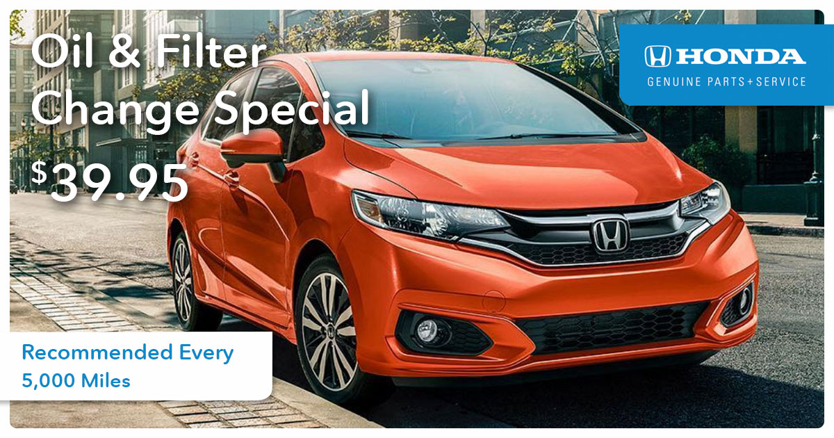 Honda Oil & Filter Change Service Special Coupon