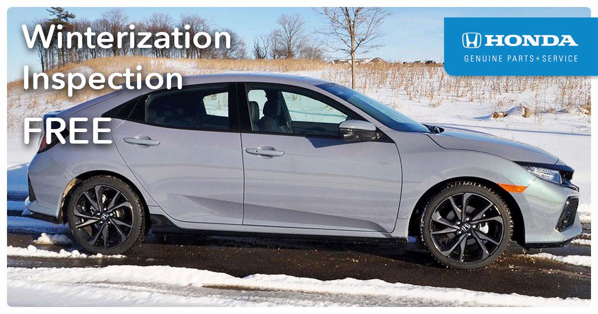 Honda Winterization Service Special Coupon