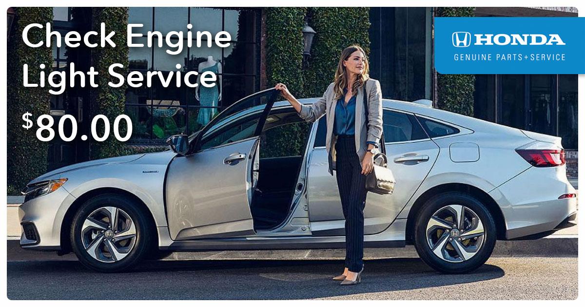 Honda Check Engine Light Service Special Coupon