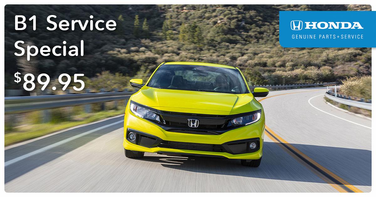 Honda B1 Service Special Coupon