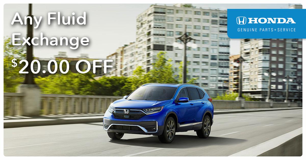 Honda Fluid Exchange Service Special Coupon