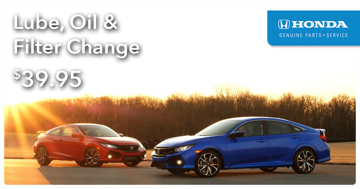 Honda Lube, Oil, & Filter Change Service Special Coupon