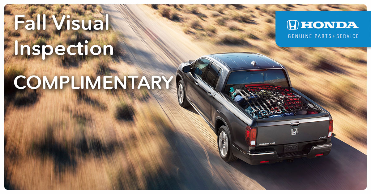 Honda Summertime Visual Inspection Service Special Coupon