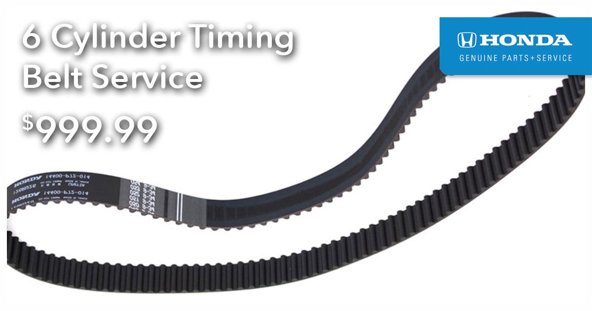 Honda 6 Cylinder Timing Belt Service Special Coupon