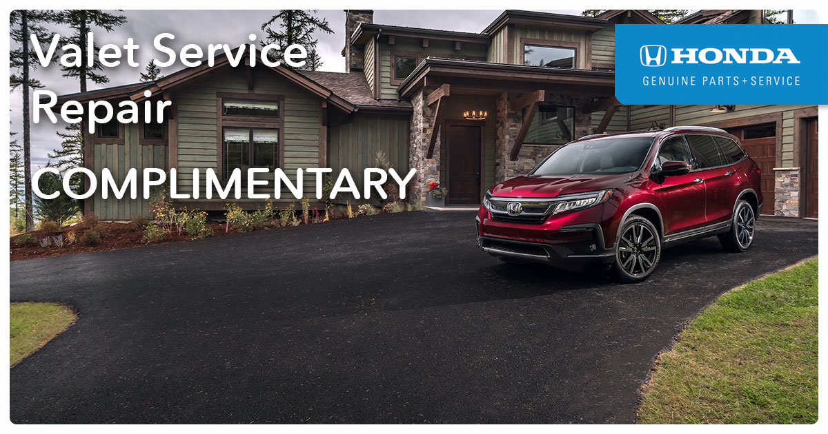 Honda Valet Service Special Coupon