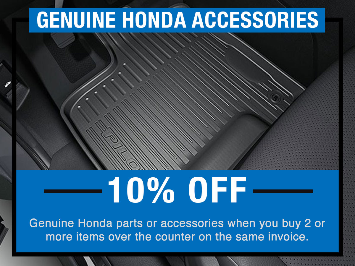 Genuine Honda Accessories Service Special Coupon