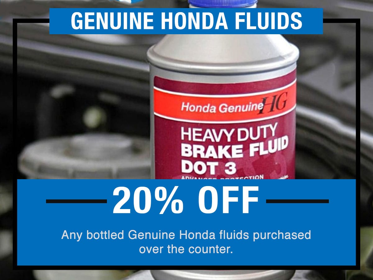 Genuine Honda Fluids Service Special Coupon