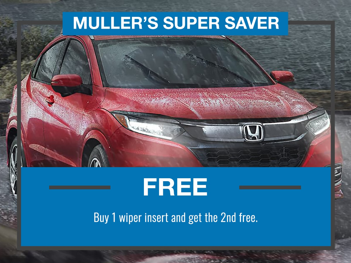 Muller's Super Saver Honda Wiper Insert Service Special Coupon