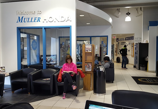 Muller Honda Waiting Area