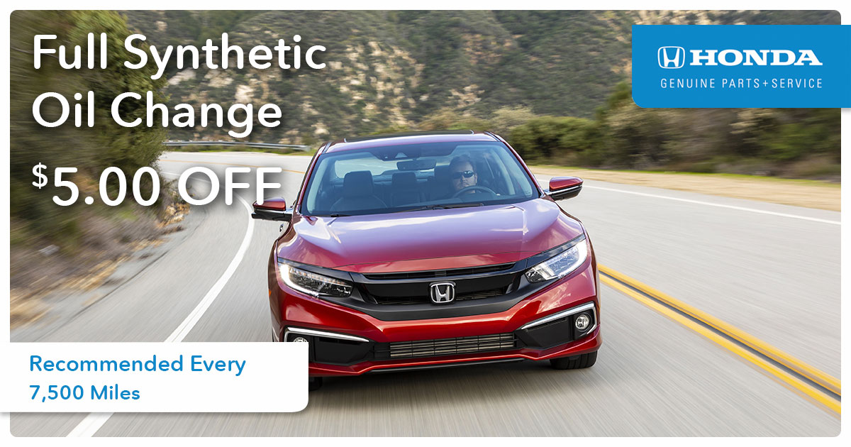 Synthetic Oil Change Special Coupon