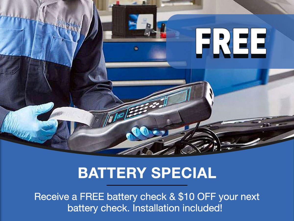 Battery Check Special Coupon