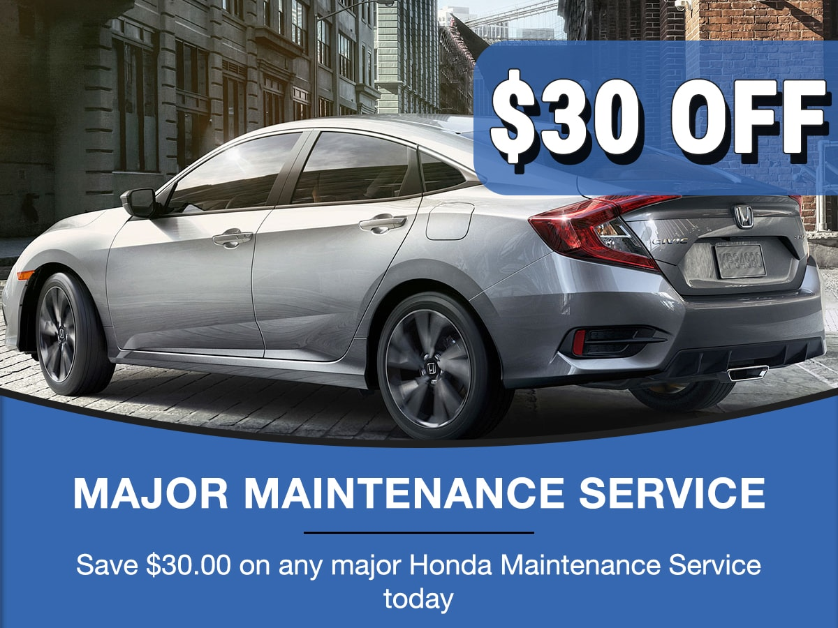 Rapids Honda Major Maintenance Service Special Coupon