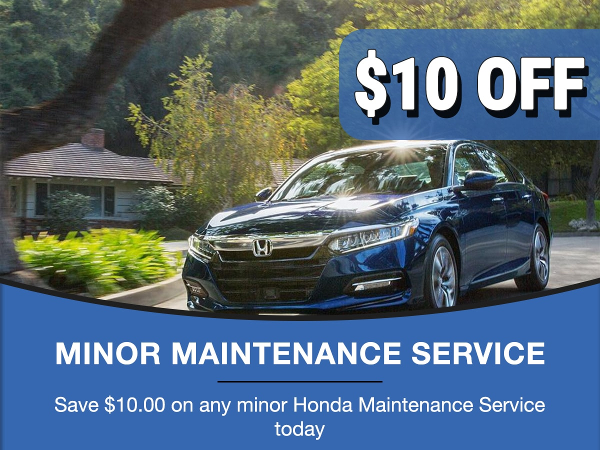 Rapids Honda Minor Maintenance Service Special Coupon
