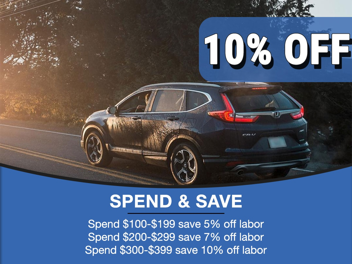Rapids Honda Spend & Save Service Special Coupon