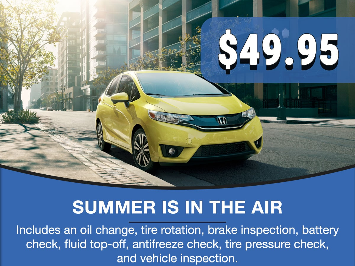Honda Summer Is In The Air Special Coupon
