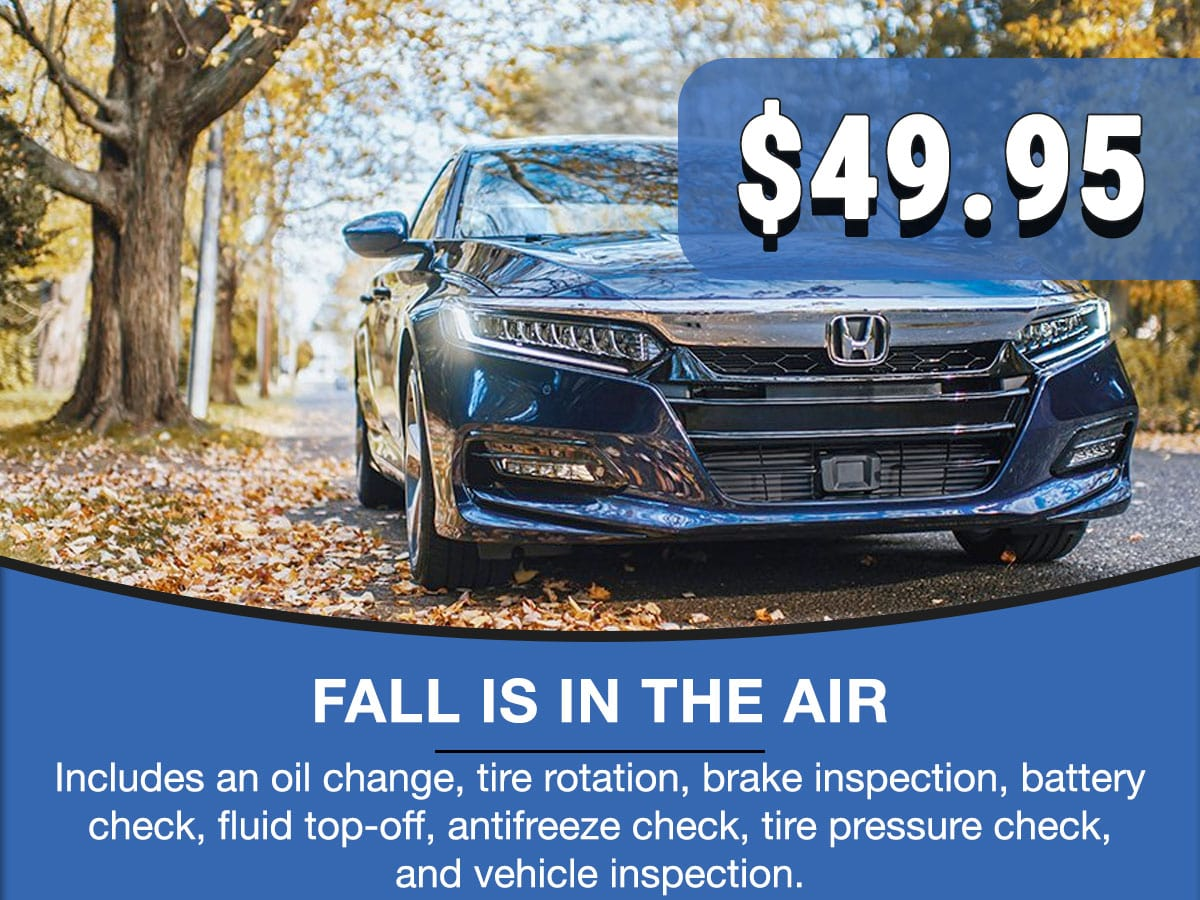 Honda Fall Is In The Air Special Coupon