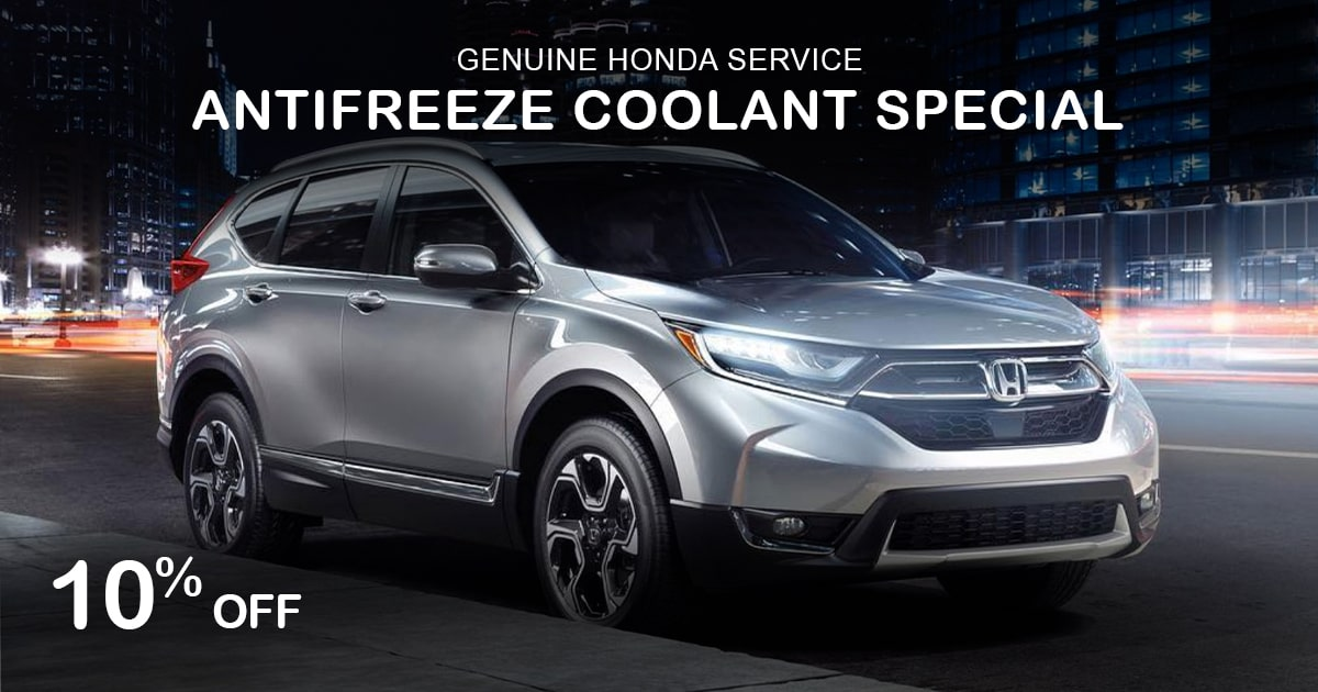 Rapids Honda Antifreeze Coolant Special Coupon