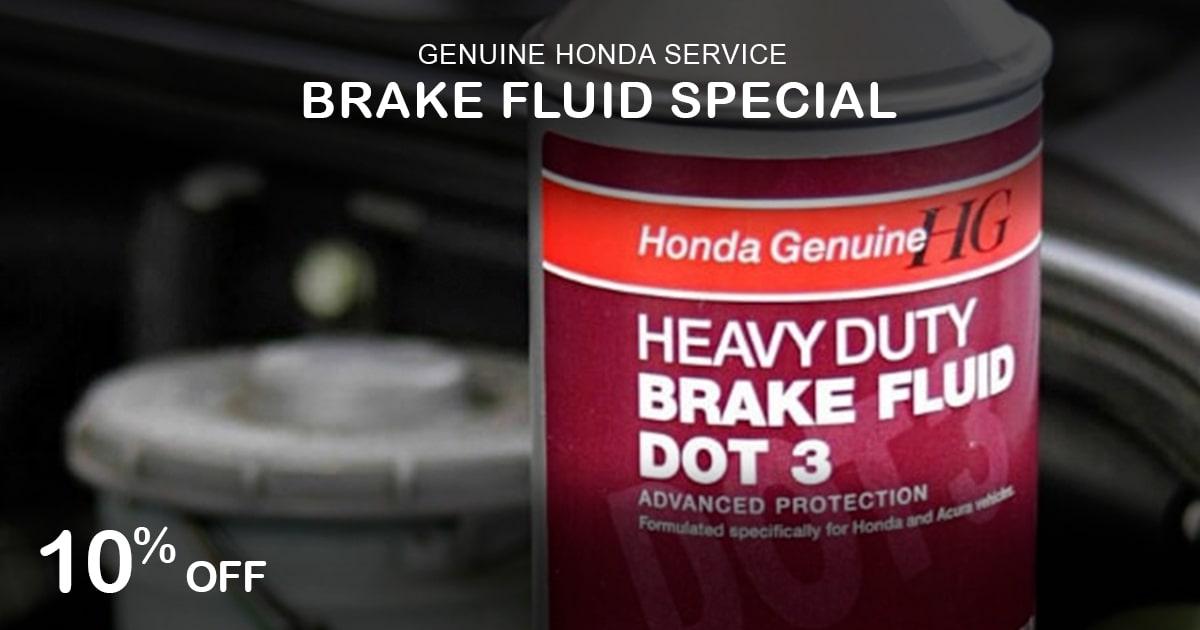 Rapids Honda Brake Fluid Special Coupon