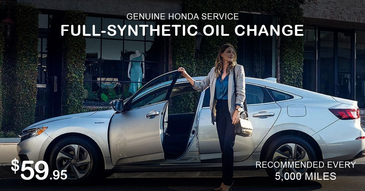 Rapids Honda Synthetic Oil Change Service Special Coupon