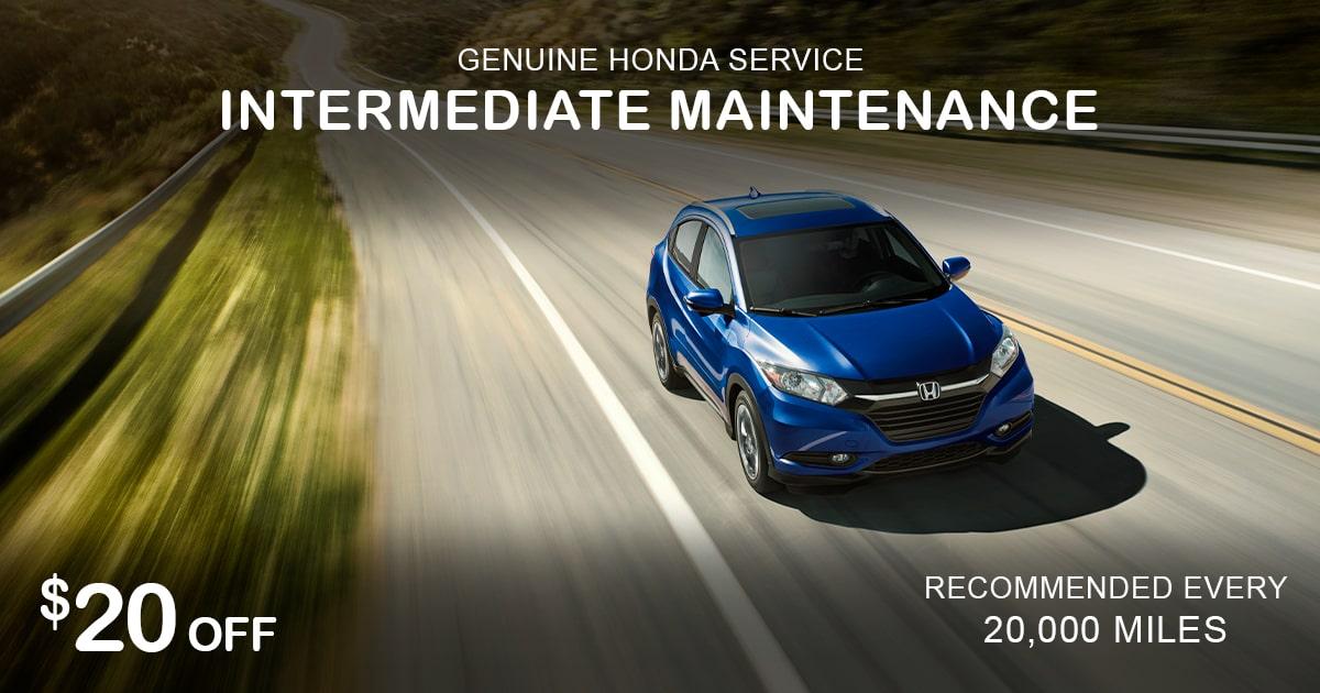 Rapids Honda Intermediate Maintenance Service Special Coupon