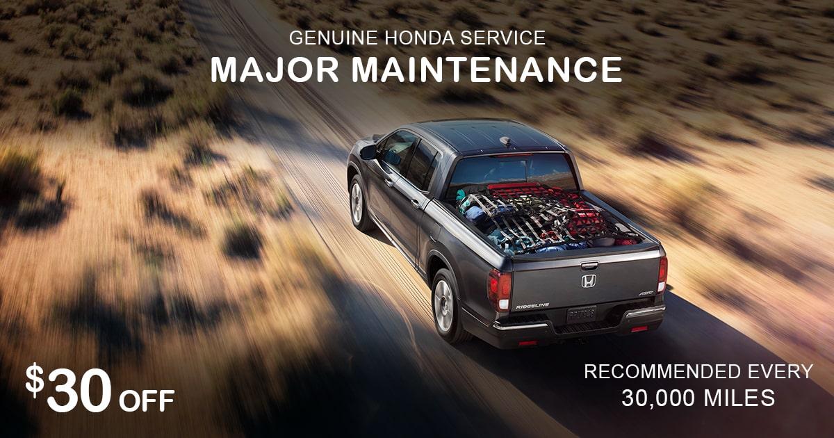 Rapids Honda Major Maintenance Service Special Coupon