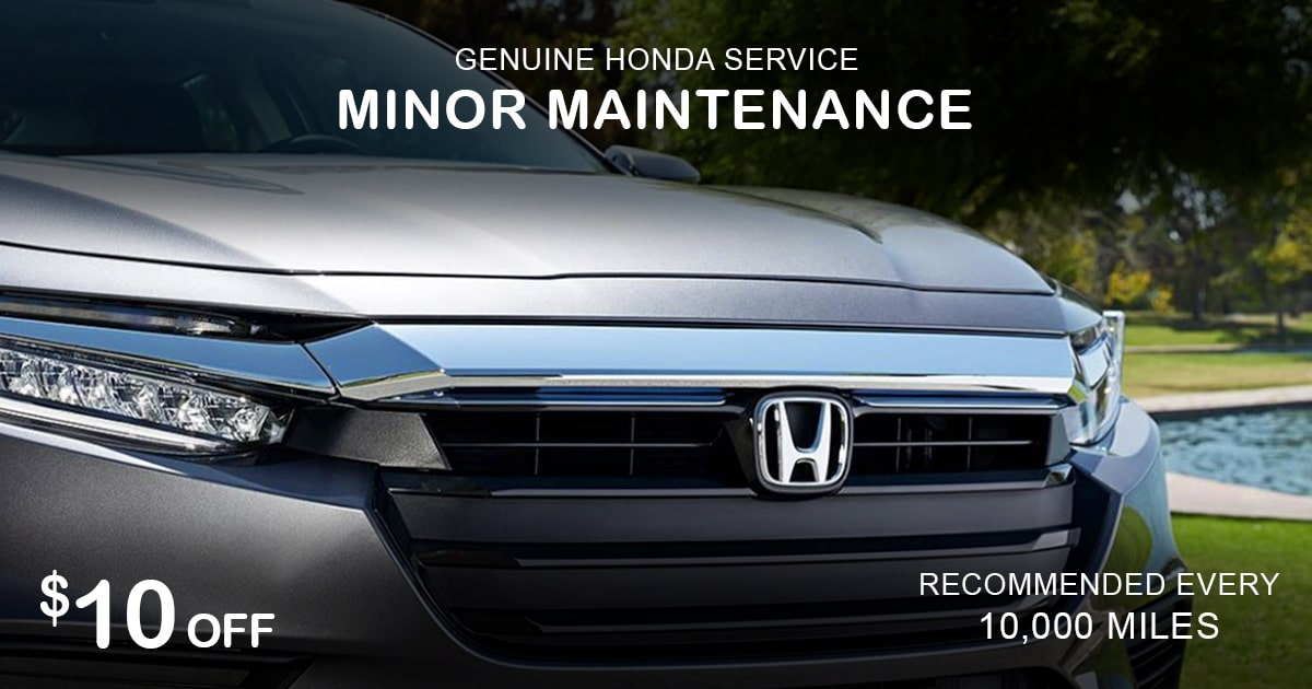 Rapids Honda Minor Maintenance Service Special Coupon