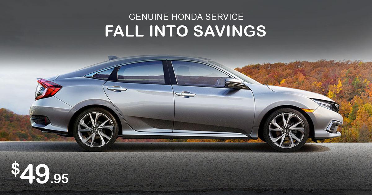 Honda Fall Into Savings Special Coupon